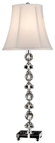 "Dale Tiffany GB11065 Simon Buffet Table Lamp, 28.5"" x 10"" x 10"", Chrome"
