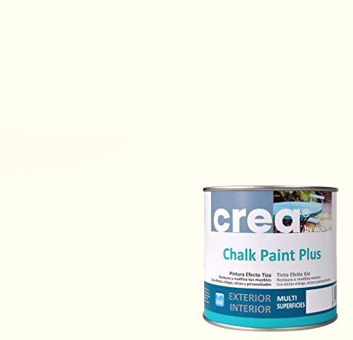 Pintura a la Tiza – Chalk Paint – Pinturas para decoración, restauración de muebles, madera – Pintura efecto Tiza (500ml) (Blanco Roto)