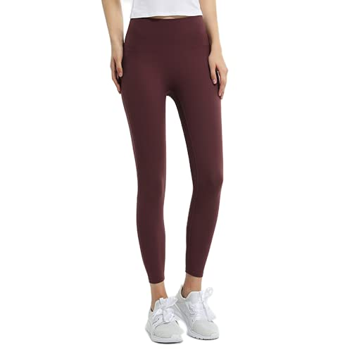 QTJY Nude Ladies Stretch Slim Soft Yoga Pants Pantalones Deportivos de Gimnasia para Mujeres Pantalones de Fitness de Levantamiento de glúteos de Cintura Alta Pantalones de Fitness L S