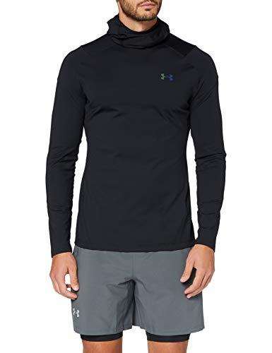 Under Armour Herren ColdGear 2.0 Hoodie Warmer und komfortabler Kapuzenpullover mit Rush-Technologie, atmungsaktives Sweatshirt gibt Energie an den Körper zurück, Black / / Reflective (001), XL