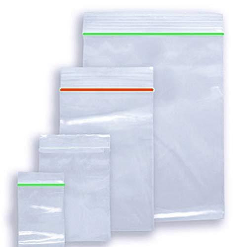 100 Tüten Tütchen Druckverschluss transparent 50mµ Zipper Beutel 40x40mm