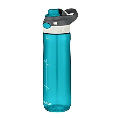 Contigo Unisex-Erwachsene Trinkflasche Chug Autospout große BPA-freie Kunststoff Wasserflasche, auslaufsicher, für Sport, Fahrrad, Joggen, Wandern, Blau, 720 ml