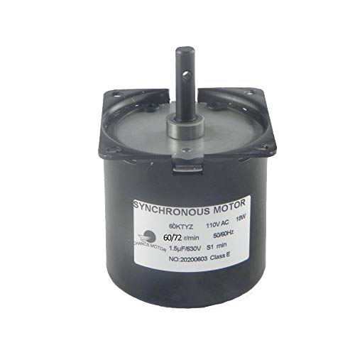 CHANCS Permanent Magnet Synchronous Gearbox Motor 60KTYZ 110V 60-72RPM CW/CCW Synchronous Reduction Motor Reversible
