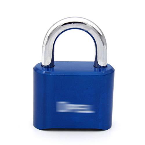 CLLC Rugzak, hangslot, metaal, waterdicht en roestvrij, voor magazijndeurslot, kastdeur grote wachtwoord-vergrendeling, huishoudbenodigdheden.