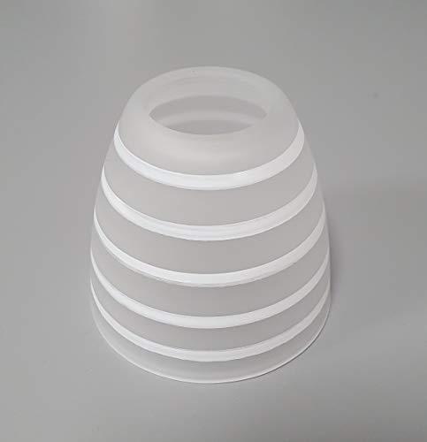 Ersatzglas E14 opal / satiniert gestreift Lampenschirm Lampenglas Deckenleuchte Strahler Tischlampe Pendelleuchte