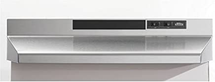 Broan F403004 Two-Speed Four-Way Convertible Range Hood, 30-Inch, Stainless Steel