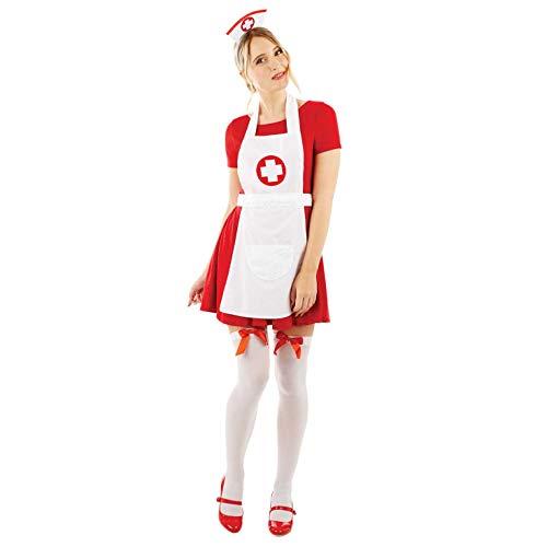 Fun Shack Weiß Krankenschwesternkostüm Kostüm für Damen - Einheitsgröße
