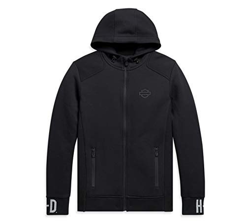 HARLEY-DAVIDSON Kapuzen Sweatshirt Jacke mit Reißverschluß Hoodie, Schwarz, L