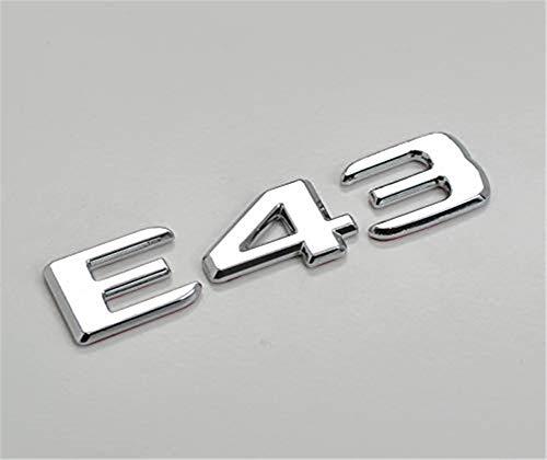 Stemma del tronco del portellone posteriore con lettere cromate argentate E43 per B ENZ E Classe W210 W211 W212 C207 / A207 W213 A MG Auto Model