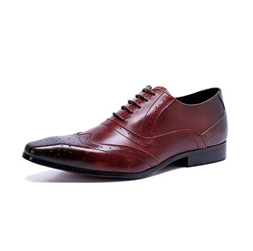 Mannen Oxford Schoenen, Comfort Schoenen PU Spring Casual Oxfords Draag Proof Lace Up Brogue Schoenen, Herfst en Winter Smart Boots Shoes, Office, Career enkellaarsjes