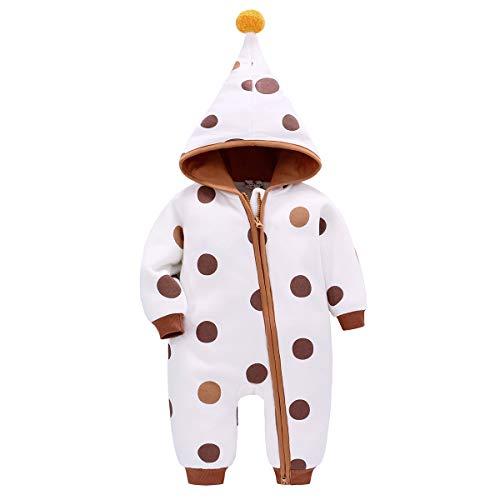 Bebone baby Kleidung Jungen Mädchen Strampler Neugeborenen Overall (Braun 2, 0-3Monate/52cm)