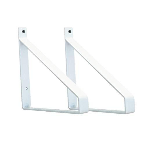 YXB Meubelvoeten-DA Plankdrager Drijvende plank muur gemonteerd zware industrie float frame, metalen beugel driehoek steun frame, smeedijzer boekenplank, 2 stuks