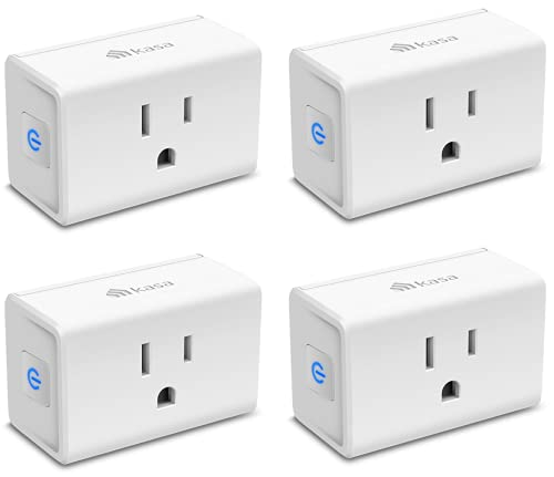 Kasa Smart Plug Mini 15A, Smart Home Wi-Fi Outlet Works with Alexa, Google Home & IFTTT, No Hub Required, UL Certified, 2.4G WiFi Only, 4-Pack(EP10P4) , White