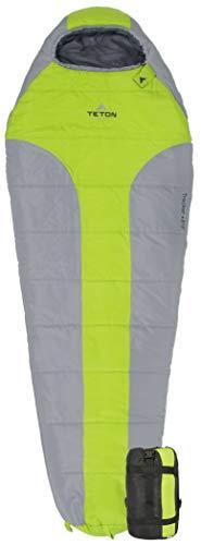 TETON Erwachsene Tracker-15˚C / +5˚F Ultraleicht Schlafsack, Grün/Grau, One Size