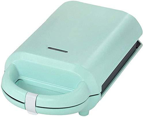 LIANYANG 640 W Mini Muffin Maker,Sandwich Maker,2 in 1 Funktions Premium Design Maker aus kompaktem Edelstahl mit abnehmbaren Antihaftbeschichtungen,LED Anzeigeleuchten,Beige(Farbe:Grün)