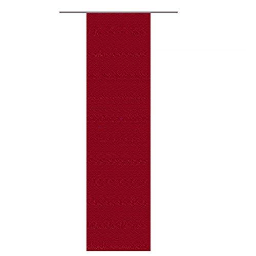 JEMIDI Flächenvorhang Leinen Look 60x245cm Flächenvorhang Raumtrenner Schiebe Gardine Schiebevorhang Flächen erhältlich Schiebe Vorhang (Bordeaux)