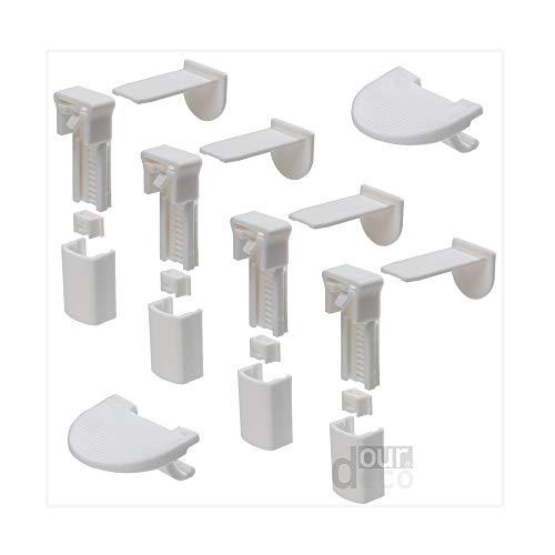 ourdeco® Zubehör/Set Ersatzklemmträger Plissee Hanni und Luc/Klemmen=Montage ohne Bohren=Smartfix=Klemmfix-Plissee=Easy-to-fix