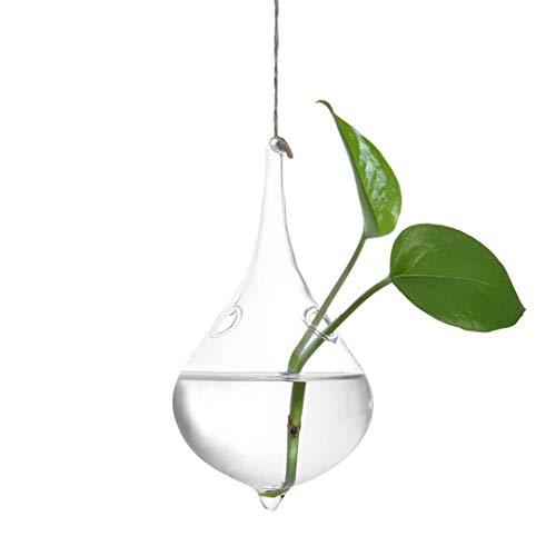 Hukz 1 Stück zum Aufhängen Terrarium Glas Vase Flower Air Pflanzgefäß Container Home Office Hochzeit Dekoration Herz Form-Unregelmäßige Geometrische Vase Glas-Gefäß (D)