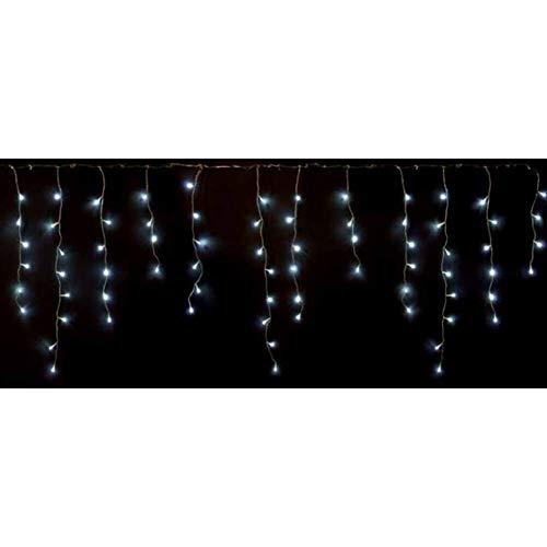 PreQu Tenda Luminosa stalattiti 180 LED Bianco Ghiaccio con Giochi di Luce Filo Trasparente con Telecomando