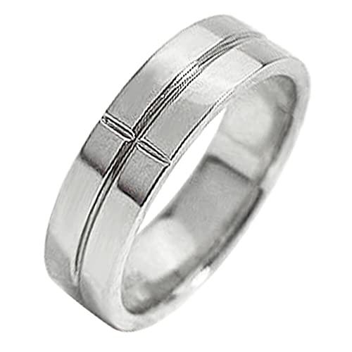 [ジュエリーアイ]Jewelry i 指輪 クロスリング プラチナ 幅広 Pt900 十字架 結婚指輪 単品 ピンキーリング ギフト 12号