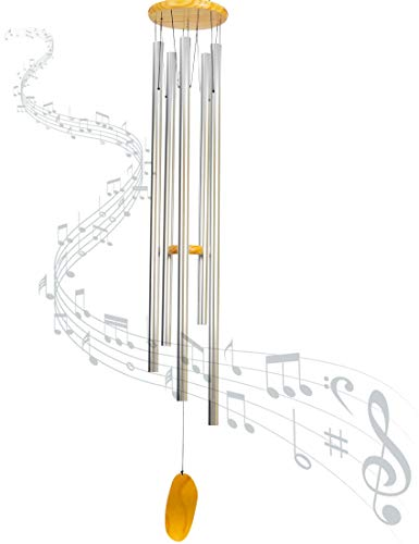 Craft Hero Wind Chimes for Outside Deep Tone - 57 Inch Extra Large Wind Chimes Metal and Wood - Deep Sound – Wind Chimes Outdoor Large Melodic Tone – Ideal Garden Décor