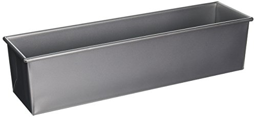 Focus Foodservice 16 by 4-Inch Single Pullman 2-Pound Bread Pan Commercial Bakeware, 2 Pound, Silver