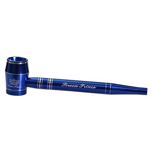 Screen Prince sieblose Aluminiumpfeife 120mm blau Metallpfeife komplett zerlegbar