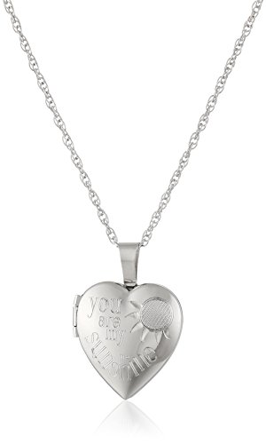 Ladies' Sterling Silver Heart Pendant with