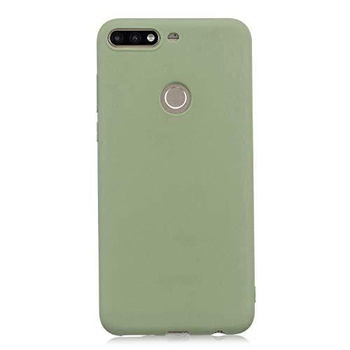 cuzz Funda para Huawei Y9 2019+{Protector de Pantalla de Vidrio Templado} Carcasa Silicona Suave Gel Rasguño y Resistente Teléfono Móvil Cover-Matcha