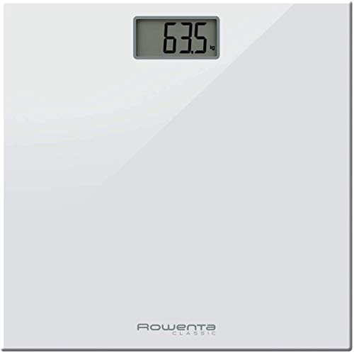 Rowenta Classic Electronic personal scale Rectángulo Color blanco - Báscula de baño (LCD, 30 x 70 mm, Color blanco, 300...