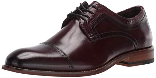 Maroon Leather Dress Shoes for Men