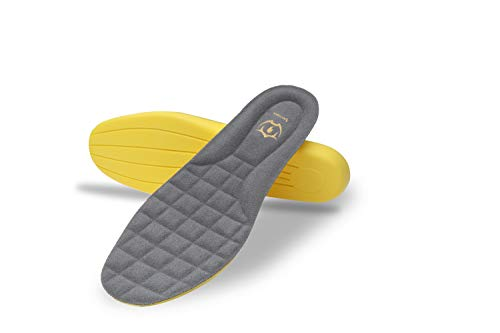 Wnnideo Memory Foam Insoles for Women Comfort Shoe Inserts with Arch Support - Premium Cushioning Orthopedic Heel Pain & Plantar Fasciitis Height Increase Work Boots Shoe Insoles Men