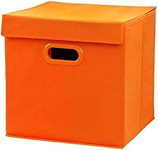 LHY SAVE Lot De 4 Tissu Pliable BoîTe De Rangement,Boîtes de Rangement avec Couvercles, Panier de Rangement avec Fingerhol...