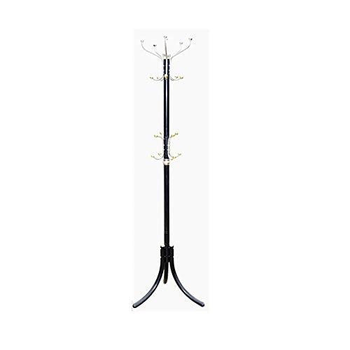 HONGNA Moderner minimalistischer Garderobenständer Metallschlafzimmer-Wohnzimmer mit DREI Beinen Kleiderständer Verstärkte Bodenaufhänger,Black