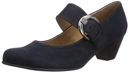 Gabor Shoes 05.458_Gabor Damen Knöchelriemchen Pumps, Blau (16 nightblue), 38 EU