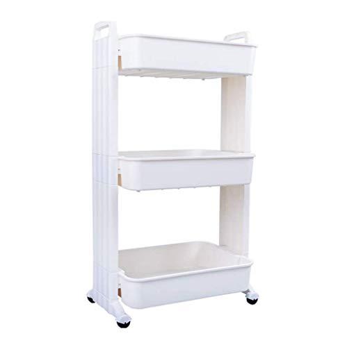 Carro de almacenamiento con 3 niveles deslizables para cocina, organizador de almacenamiento de pared, mueble de torre de baño, estante con ruedas