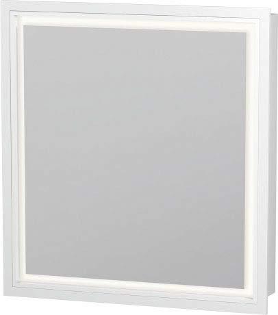 Duravit Waschtisch l-cube Spiegel links mit Licht 700x 650x 155