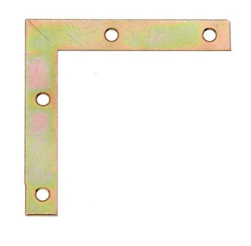 GAH-Alberts 337018 Möbelwinkel - galvanisch gelb verzinkt, 75 x 75 x 12 mm / 8 Stück