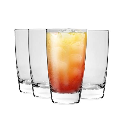 Bormioli Rocco Nadia Highball Verres à Cocktail Set - 455ml (15 1/2 oz) - Paquet de 4