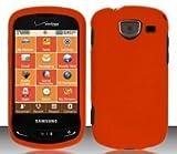 Samsung Brightside U380 (Verizon) Orange Hard Case Snap On Protector Cover + Free Magic Soil Crystal Gift