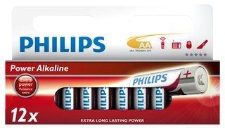 PHILIPS - AA 12PK - Batterie, ALKALINE AA 12PK, PHILIPS