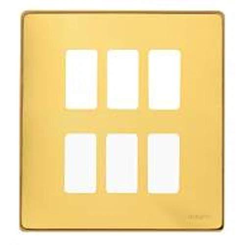 BTICINO 506/6/OT - magic Placca 3+3p ottone lucido