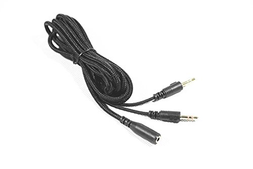 Beracah 2 in1 Extention Cable for HyperX Cloud Revolver S Stinger Gaming Headset (Cloud Stinger)