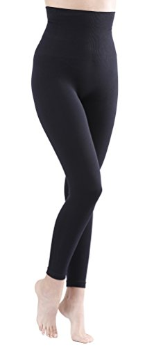Yenita Damen Shapewear Slim Leggings, Taillen-Leggings, Bauchweg Miederhose, schwarz