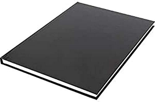 Quaderno per schizzi Kangaro A4, copertina rigida, 80 fogli, 100 g, nero, 29,4 x 21,3 x 1,4 cm