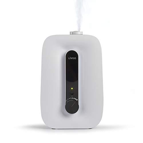 Luchtbevochtiger ultrasone luchtbevochtiger slaapkamer kinderkamer baby ionisator (aroma-functie, binnenklimaat, 7,6 liter waterreservoir, humidifier)
