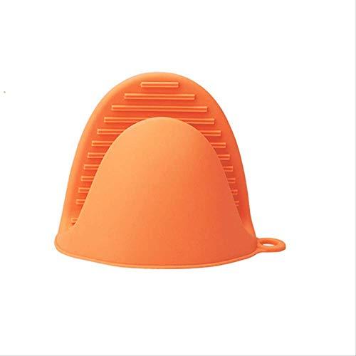 FHFF Guanti da cucina Ttlife, 1 organizer da cucina in silicone isolato per pentole di calore, guanti da forno a microonde, colore: arancione