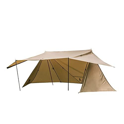 JUNMAIDZ Tienda Refugio de Camping configurable de Tienda con Carpa de Polos de Polos para Retroceso Backcountry (Color : Coyote Brown)