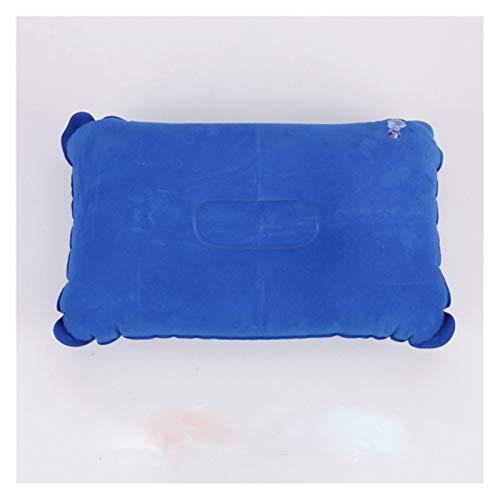 DZSW Almohada de aire de PVC inflable ultraligera y práctica de nailon para dormir, para viajes, dormitorio, senderismo, playa, cochecito, avión, reposacabezas cómoda almohada (color: rojo vino S)