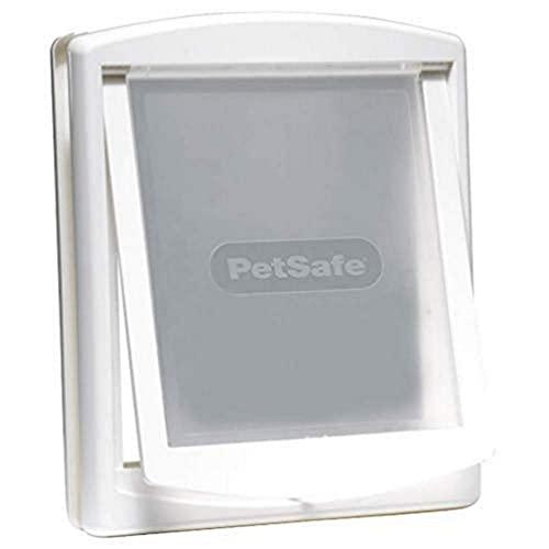 PetSafe Puerta para Perros y Gatos Original Staywell con 2 Posiciones, Entrada y salida, Puerta para mascotas, Panel de cierre incluido, Blanco (L)